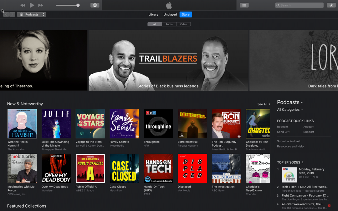 Trailblazers.FM receives Apple Podcast feature