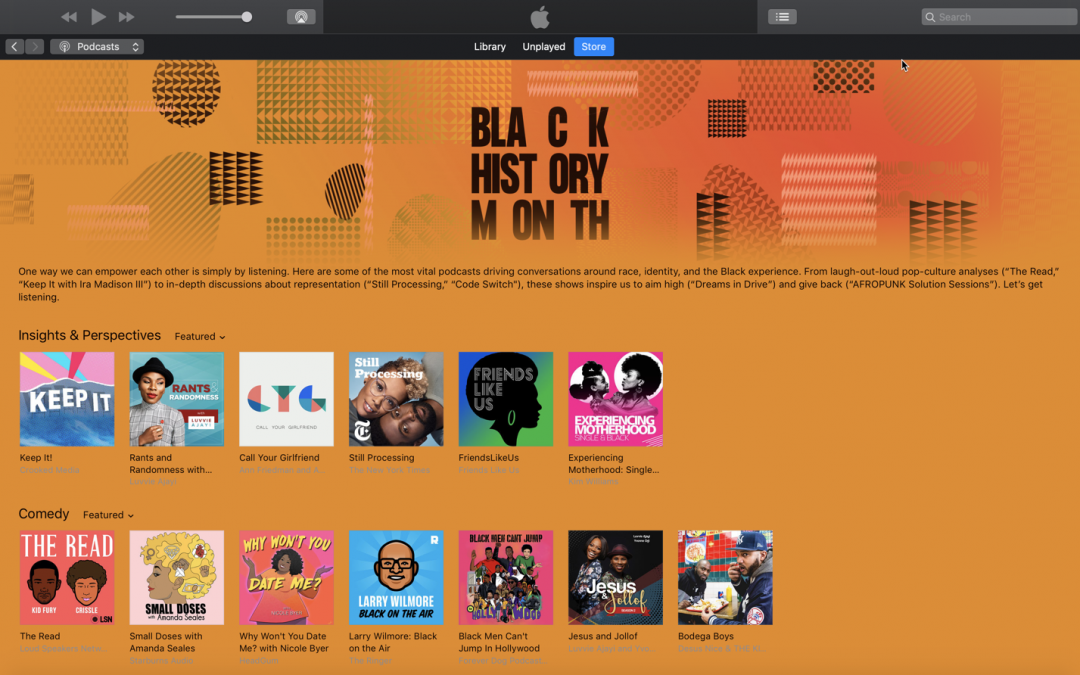 Trailblazers.FM featured in Apple's Black History Month selection